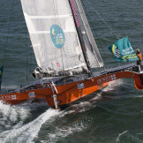 Sortie sensation trimaran de course - Regate du tour de belle-ile